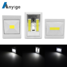 ANYIGE Magnetic LED Cabinet Light with Switch Wireless Wardrobe Nightlight Cupboard Closet Light for Bedroom Kitchen Lighting
