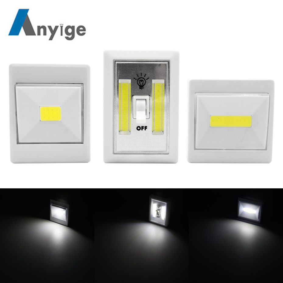 ANYIGE Magnetic LED Cabinet Light with Switch Wireless Wardr