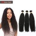 Mongol Afro Crespo Encaracolado Virgem Cabelo Afro Kinky Do Cabelo Humano Cabelo Afro Kinky Curly Virgem Cabelo Weave 4 bundles Zora produtos