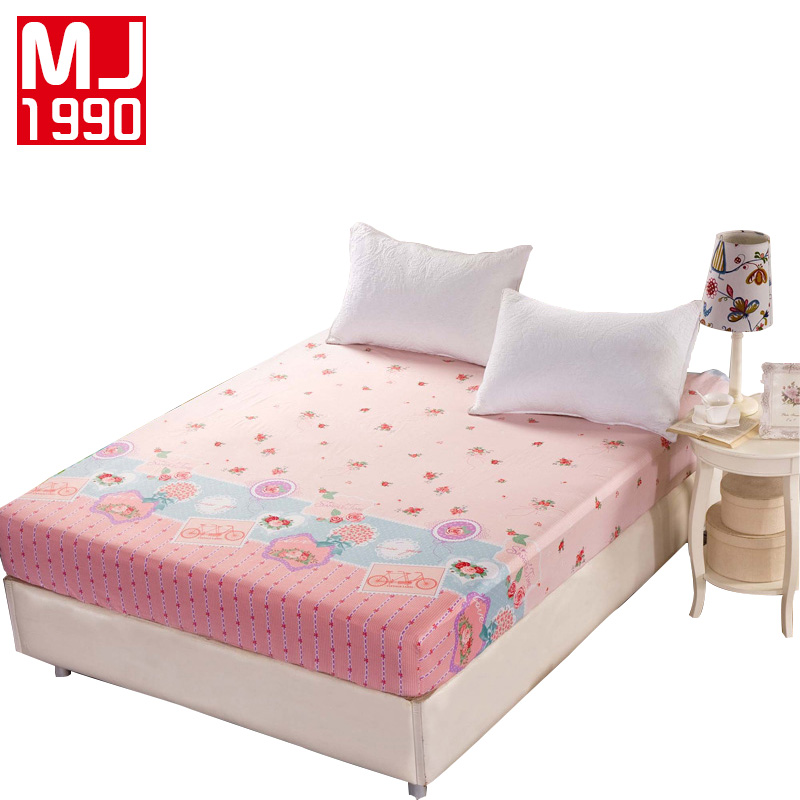 1 piece 100 cotton printed fitted sheet plant flowers mattress cover double mattress 120x200cm. Black Bedroom Furniture Sets. Home Design Ideas