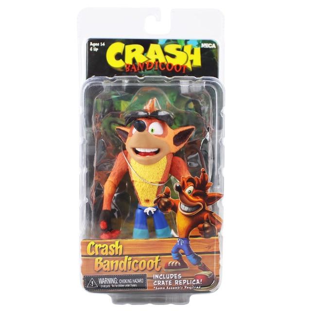15 centímetros Crash Bandicoot Bandicoot NECA Lobo Pintado Estátua Figura Brinquedo Presente para As Crianças