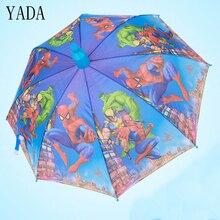 YADA Children Cartoon Spider-Man & Boonie Bear Hulk Umbrella Full-automatic Long-handle Boys Girls Kids Parasols Umbrellas YS168