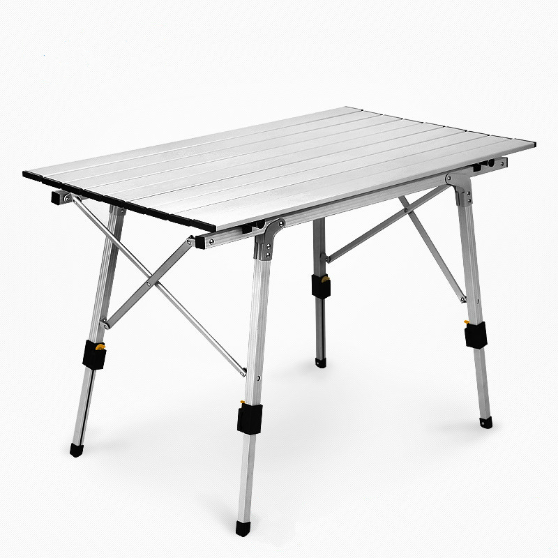 Outdoor Camping Lifted Folding Table Ultralight Aluminum Alloy Portable Desk Adjustable Beach Leisure Picnic BBQ Stable Table bbq camping folding table ultralight multifunction outdoor dining table portable stable leisure sketch desk outdoor furniture