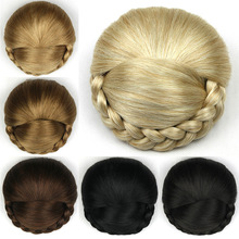 Gres Женщины Плетеный Шиньон Клип В Блондинке Синтетические Волосы Часть Высокотемпературного  Лучший!