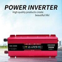 2000W LCD Display Car Power Inverter Power Supply Dc12v 24v To Ac220v Digital Charging Converter 3000w 4000w 5000w Inverter