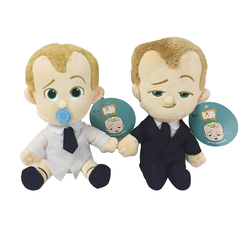 2pcs/lot 20cm The Boss Baby Born Leader Plush Stuffed Toys Doll Suit Diaper Boss Baby Plush Soft Toy for Kids Children Gifts plush ocean creatures plush penguin doll cute stuffed sea simulative toys for soft baby kids birthdays gifts 32cm