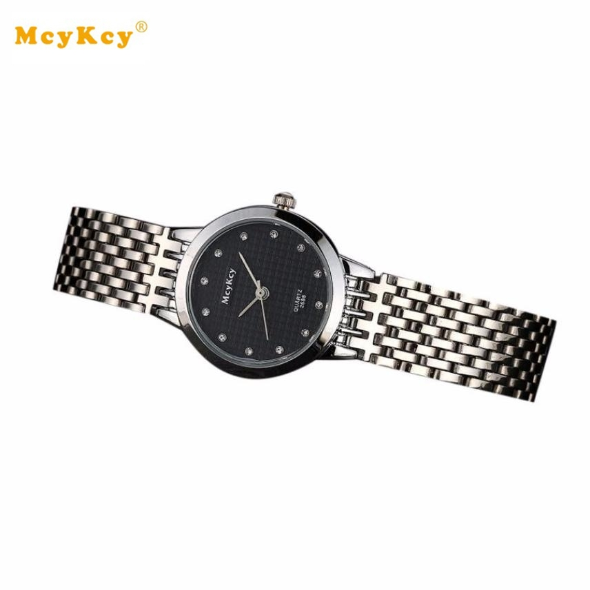 McyKcy men's watches of the famous luxury brand Round Shape Stainless Steel Analog Quartz Wrist Watch Reloj hombre #YH migeer fashion man stainless steel analog quartz wrist watch men sports watches reloj de hombre 2017 20 gift