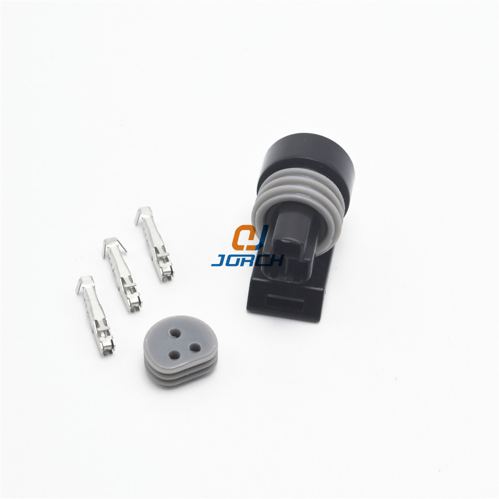 10 Sets 3 Pin Waterproof Automotive Oil Fuel Pressure Sensor Connector Plug 12110192 12065287 12078090