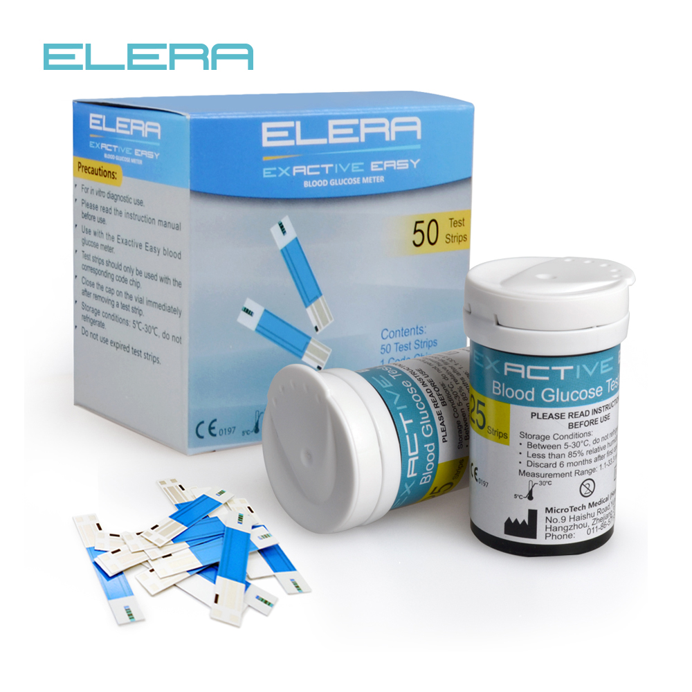 ELERA 50/100 Tablets Test Strips And Blood Lancets For Blood Glucosemeter Special Test Paper Expendables Necessary