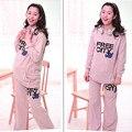 Autumn chic sweatshirt maternity women clothes warm hoodies + pants sets long length hoodies for pregnant woman soft 09065