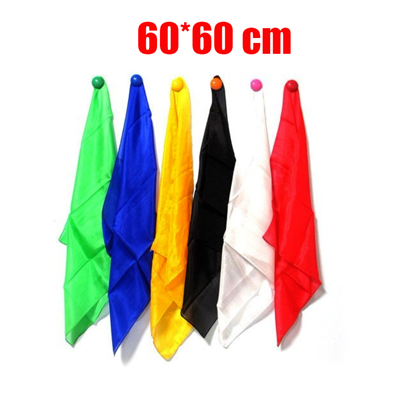 1 Pcs 60* 60 Cm Colorful Silk Scarf Magic Tricks Close Up Street Stage Magic Prop  Accessories Magicians  Gimmick Illusion