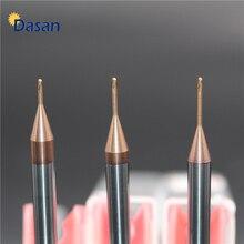 1pc Radius 0.25 0.3 0.4 0.5 1mm 2mm Ball Nose Long Neck End Mill Tungsten Carbide Deep Groove Milling Cutter Engraving Machine цены