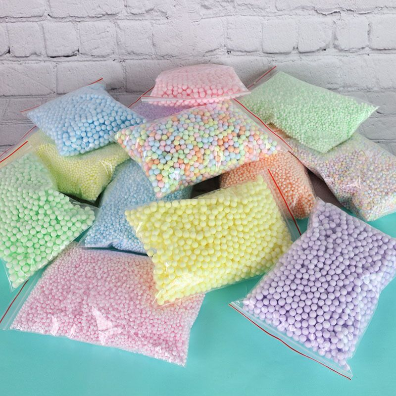 14000PCS Polystyrene Styrofoam Filler Balls Bottle DIY Snow Mud Particles AccessoriesSlime Balls Small Tiny Foam Beads For Foam