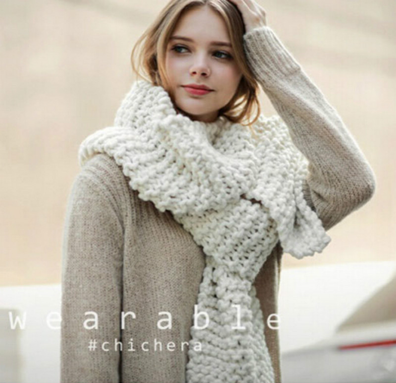 ZA New 2017 Thick Wool Women Winter Scarf Long Size Warm Fashion Solid Scarves & Wraps