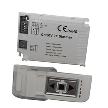 AC110V- 220V DM015 1 Channel High Voltage LED RF Dimmer 0-10V 1CH Trailing Edge Dimming 3 Key with Remote LED RF Dimmer Control