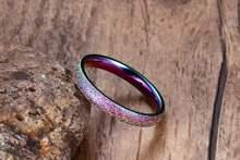 Модные блестящие полированные цветные кольца из нержавеющей
