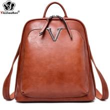 Vintage Sequin Backpack Female Brand Leather Large Capacity School Bag Bookbag Simple Shoulder Bags for Women Mochila