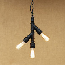 Retro Style Loft Industrial Pendant Lighting Fixtures Lampe Water Pipe Rustic Vintage Lamp LED Edison Lamparas Lustre(China)