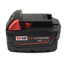 M18 электрооборудование буровых литий-ионный аккумулятор 18 В 6000 мАч 108WH для милуоки инструмент 48 — 11 — 1828 48 — 11 — 1840 18 В 6.0Ah аккумулятор