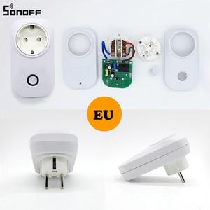 Image 3 - Горячая продажа SONOFF S20 ЕС Wifi умная розетка выключатель питания ЕС E/F разъем приложение/Vocie пульт дистанционного управления розетка синхронизации работает с Alexa работать с Алиса