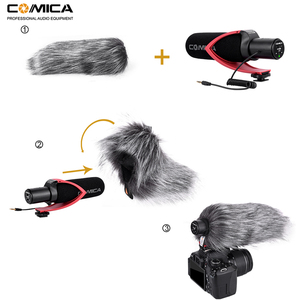 Image 5 - Comica V30 PRO Video Microphone Directional Condenser Interview Recording Mic for Canon Nikon Sony DSLR Camera (with Windmuff)