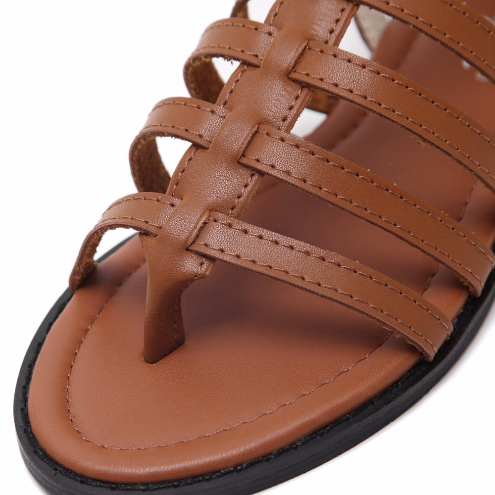 ff383349b AIYKAZYSDL Women Rome Shoes Gladiator Sandals Flip Flops Thong Strappy Faux  Leather Buckle Flat Heel Comfrotable Gothic Shoes -in Women s Sandals from  Shoes ...