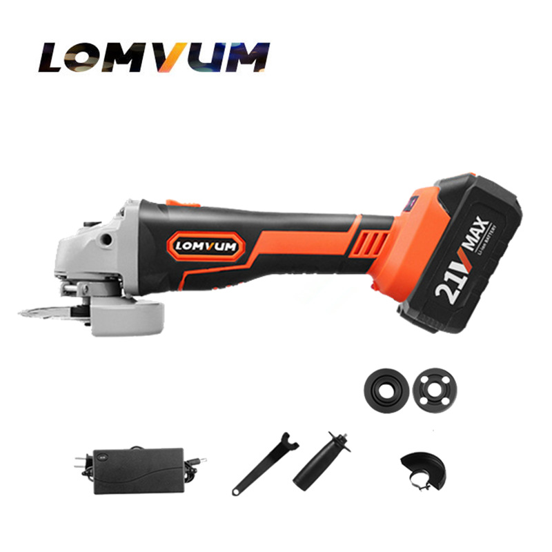 21V lithium battery Wireless charging Angle polishier home diy Cordless Angle grinder grinding metal cutting machine