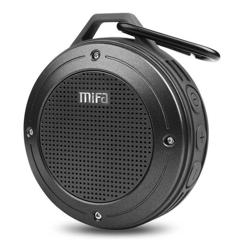 MIFA F10 Portable bluetooth Speaker Shock Resistance IPX6 Waterproof Speaker Bass Wireless Bluetooth 4.0 TF card Built-in mic