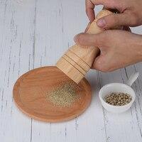 Мельница для соли и перца, высокое качество, цельная деревянная мельница для перца с сильным регулируемым керамическим точильщиком кухонные инструменты