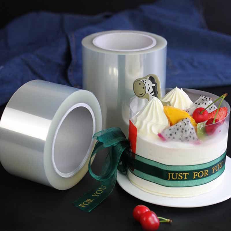 Transparent Mousse Surrounding Edge Wrap Cake Collar 10mx8cm Kondeter Film Acetate Diy Cake Decorating Tools Clear Acetate Roll