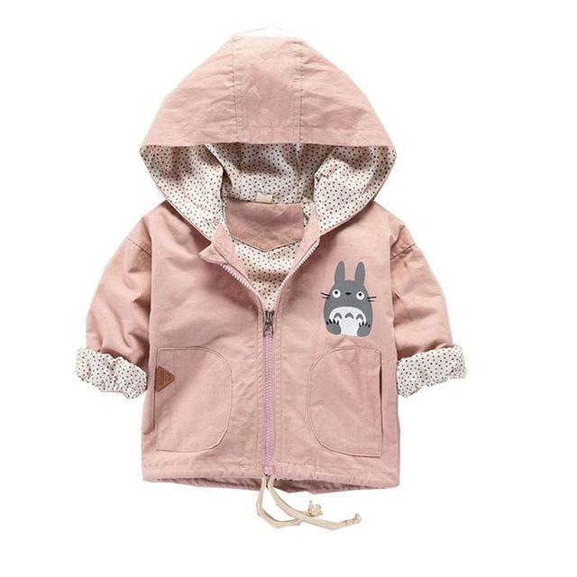Thời trang bé trai quần áo Totoro phim hoạt hình áo khoác mùa xuân màu hồng Đội Mũ Trùm Đầu áo Trẻ Em quần áo thể thao Giáng Sinh Toddler trẻ em quần áo