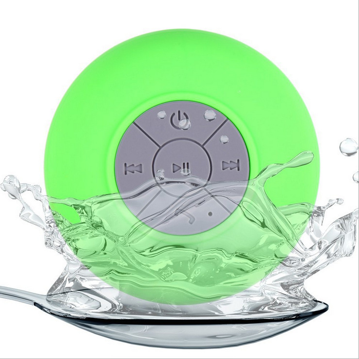 (10 pcs/Lot) Mini Portable Subwoofer Shower Waterproof Wireless Bluetooth Speaker Car Handsfree Receive Call Music Suction Mic