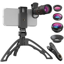 4-in-118 Times Long Focus Wide Angle Macro Fisheye Lens Camera Kits Mobile Phone Fish Eye Lenses with Clip for iPhone Samsung цены