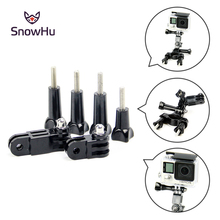 SnowHu For GoPro 3-way Pivot Arm Assembly Extension 4x thumb knob for Hero 7 6 5 4  xiaoyi and accessories Screw GP05