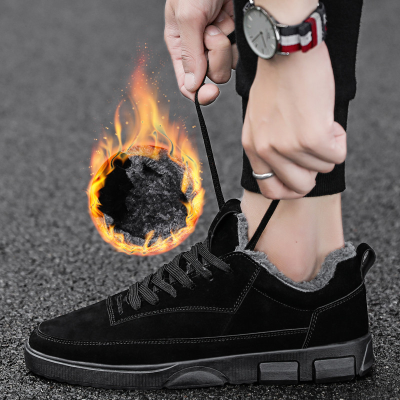2018 New Men Shoes Winter With Plush Warm Boots Casual Comfortable Wear-resisting Work Shoes Men Footwear Fashion Ankle Boots наушники hifiman edition x
