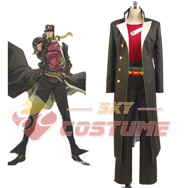 JoJo's Bizarre Adventure Stardust Crusaders Jotaro Kujo Hat Cosplay Costume Halloween Full Set