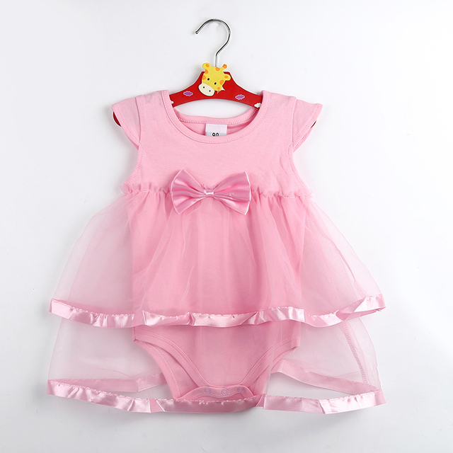 8cbfc4ffb Hot Sale New Born Baby Dress Summer Cotton Bow Baby Rompers For ...