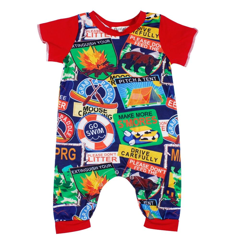 2017 الوليد طفلة الصبي الملونة الكرتون - ملابس للأطفال الرضع