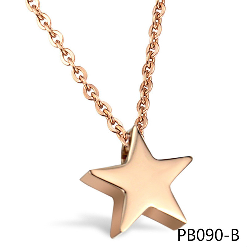 Украшения новый шаблон Украшения Jewelry покрытие розовым прибывают из звезд настоящие звезды Титан Сталь Цепочки и ожерелья gx771