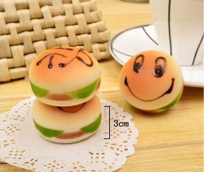 20pcs/lot ,Free Shipping, Squishy Buns humburger Key Ring Charms/mobile Pendant/phone chain/ Wholesale