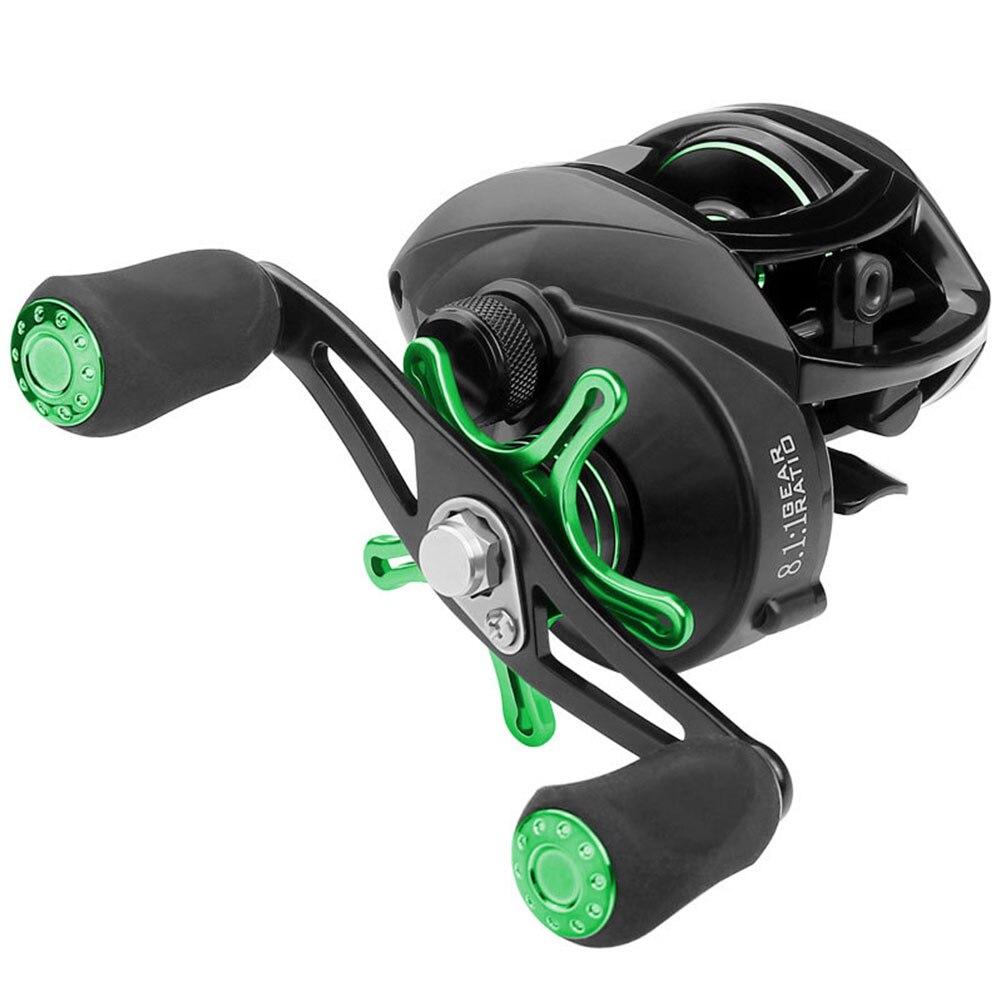 Черный зеленый с ЧПУ проволочная чашка рыболовное колесо Удочка капающее колесо металлический рокер Рыболовные Инструменты Рыболовная катушка для металлической дороги - Цвет: Left hand