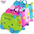 Дети дорожная упаковка сумка на колесах и ездить на велосипед ролл многофункциональный синий розовый красный зеленый 18L пп ABS пластик открытый мультфильм свинья