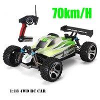 1:18 A959 2 батареи обновление версии A959 B 70 км/ч 2.4 г RC автомобиль 4WD радио Управление грузовик RC багги высокая скорость внедорожных ездить на игр