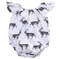 Newborn Baby Boys Girls Reindeer Bodysuits Onesie  Infant Babies Boy Girl Cute Animal Deers Bodysuit Outfits Kids Clothing