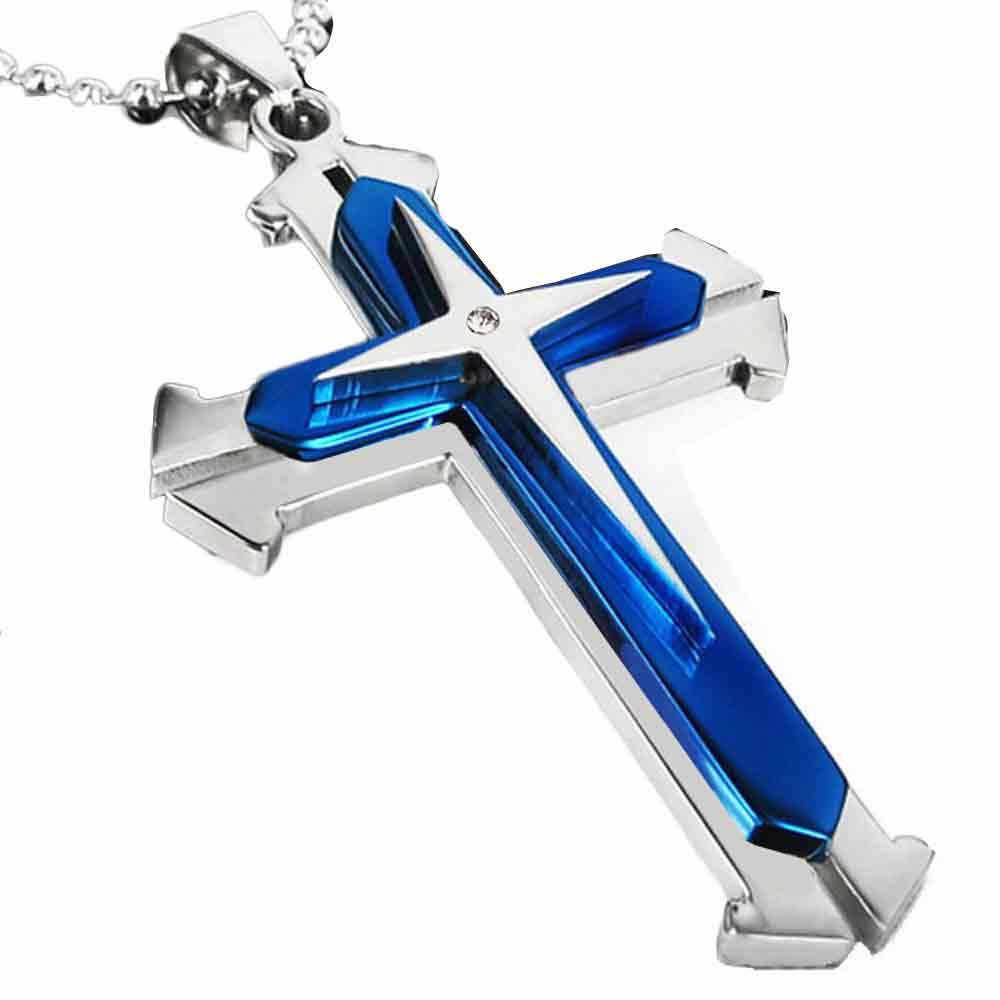 2019 1 قطعة الأزياء قلادة من الفولاذ المقاوم للصدأ قلادة الكتاب المقدس المسيحي الصلاة الصليب قلادة الرجال قلادة الساحرة هدايا مجوهرات