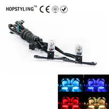 Car styling LED RGB Multi Color Devil Demon Eyes Light Self-pretection headlight projector lens retrofit auto decorating lamps