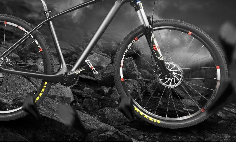 De carbone vtt Vtt Cadre 29er T8000 UD matt Carbone Vélo vélo Cadre vtt 29er 27.5/26er 15.5 17. 519 Vélo Cadre En Carbone
