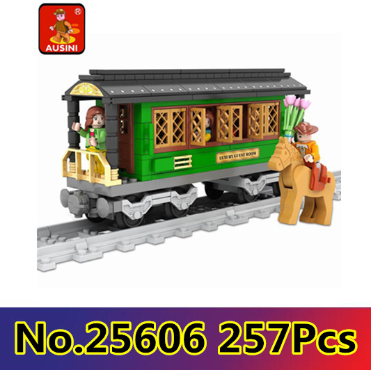 Model building kits compatible with lego city rail train 008 3D blocks Educational model building toys hobbies for children