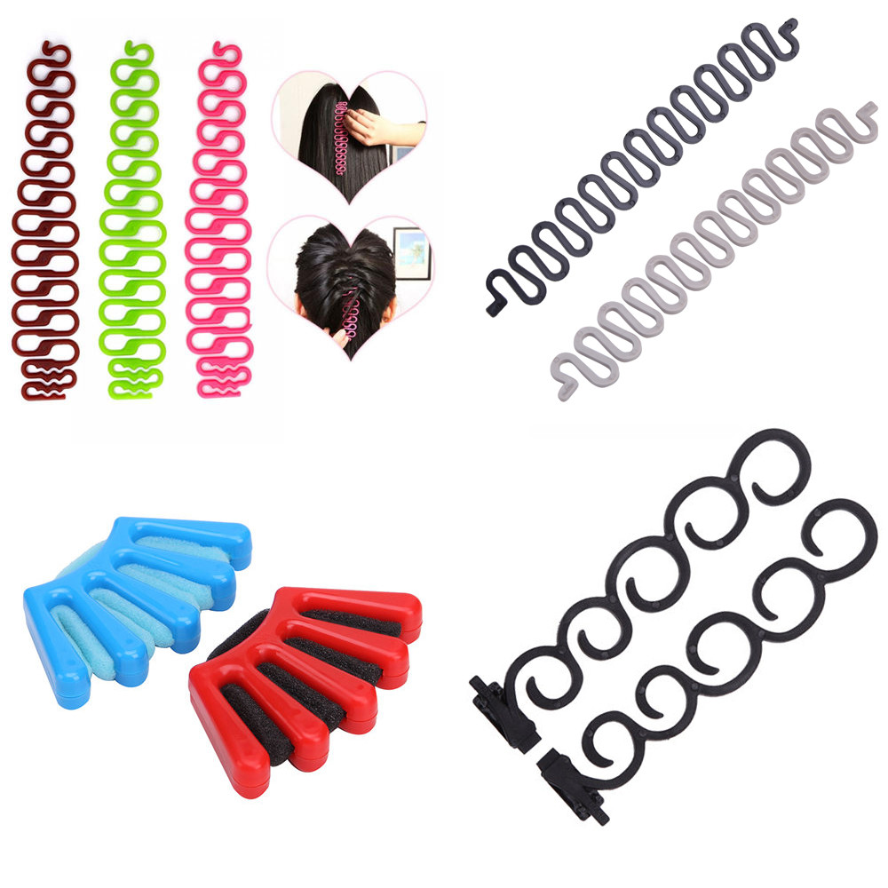 6 Styles Lady French Hair Braiding Tool Weave Braider Roller Hair Twist Styling Tool DIY Accessories