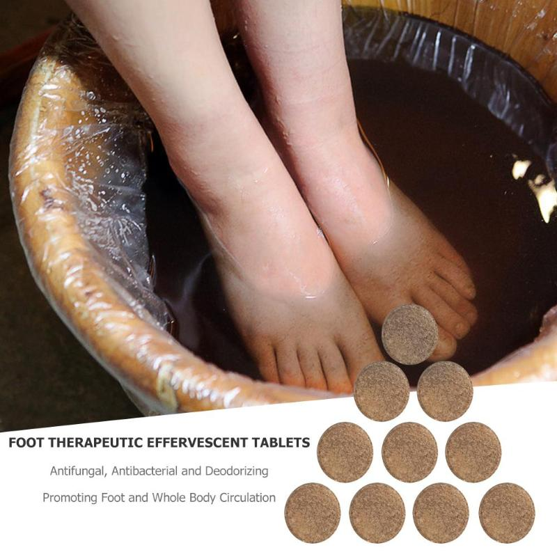 10pcs Anti-Swelling Foot SPA Ginger Foot Soaking Massage Effervescent Tablets Treatment For Ankle Pain Deodorants Antiperspirant